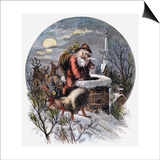 A Visit From St Nicholas Prints by Thomas Nast