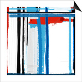 Blue Strokes Prints by  NaxArt