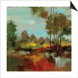 Hidden Pond Hues II Print by Silvia Vassileva