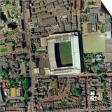Tottenham Hotspur's White Hart Lane Print by Getmapping Plc