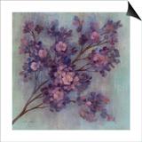 Twilight Cherry Blossoms I Posters by Silvia Vassileva