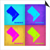 Washington DC Pop Art Map 1 Prints by  NaxArt
