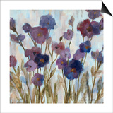 Abstracted Florals In Purple Poster by Silvia Vassileva