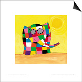Elmer in the Sun Prints by David Mckee