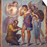 Italy, Naples, Naples Museum, from Pompeii, House of Siricus (VII, 1, 47), Iapyx and Aeneas Prints by Samuel Magal