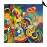 Delaunay: Hommage Bleriot Art by Robert Delaunay