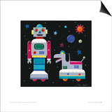 A Robot & His Dog Prints by Simon Hart