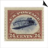 24-Cent U.S. Postage Stamp with an Inverted Jenny Posters