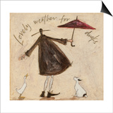 Lovely Weather for Ducks Prints by Sam Toft