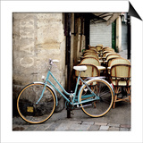 Cafe Bicycle Poster by Marc Olivier