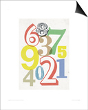 Small Numbers Prints by Anthony Peters
