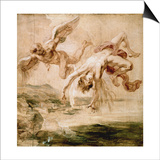 Rubens:Fall Of Icarus 1637 Print by Peter Paul Rubens