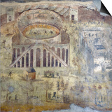 Italy, Naples, Naples Museum, from Pompeii, (peristyle) (I, 3,23), Amphitheater Showing Battle Poster by Samuel Magal