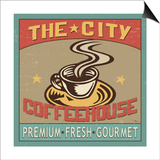 Coffeehouse I Print by  Pela