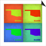 Oklahoma Pop Art Map 1 Print by  NaxArt