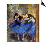 Degas: Blue Dancers, C1890 Art by Edgar Degas