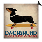 Dachshund Longboards Prints by Ryan Fowler