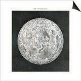 Lunar Map of 1854 Poster by Detlev Van Ravenswaay