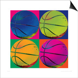 Ball Four-Basketball Prints by Hugo Wild