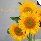 Smile: Sunflower Bouquet Prints by Nicole Katano