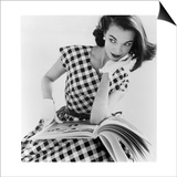 Helen Bunney in a Dress by Blanes, 1957 Print by John French