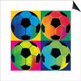 Ball Four-Soccer Prints by Hugo Wild