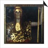 Klimt: Pallas Athena, 1898 Poster von Gustav Klimt