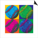 Balll Four-Baseball Print by Hugo Wild