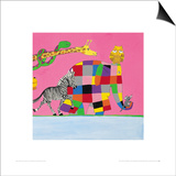 Elmer's Friends are all Different Prints by David Mckee