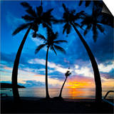Silhouette of Palm Trees at Sunset, Nippah Beach, Lombok, Indonesia, Southeast Asia, Asia Prints by Matthew Williams-Ellis