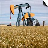 Oil Pump In a Wheat Field Prints by Tony Craddock