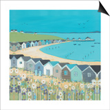 Janet Bell - Beach Huts Obrazy