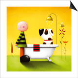 Bathtime Poster by Jo Parry