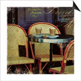 Parisian Cafe I Art by Wild Apple Photography