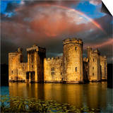 Moods over Bodiam Poster by Adrian Campfield