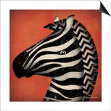 Zebra Wow Posters by Ryan Fowler
