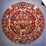 Solar Calendar, Aztec, Mexica Culture (Reconstruction) Prints