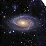 Messier 81, or Bode's Galaxy, is a Spiral Galaxy Located in the Constellation Ursa Major Posters