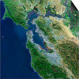 San Francisco, California, Satellite View Prints by  Stocktrek Images