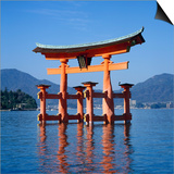 Torii Gate Shrine, (Itsukushima-Jingu Miya Jima), Japan Posters by Christopher Rennie