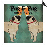 Ryan Fowler - Pug and Pug Brewing Square - Poster
