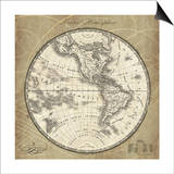 French World Map III Prints by Sue Schlabach