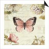 Marche de Fleurs Butterfly I Poster by Lisa Audit