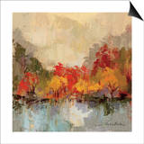 Fall Riverside II Print by Silvia Vassileva