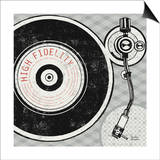 Vintage Analog Record Player Poster by Michael Mullan