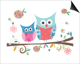 Hello Owls Posters by Kim Anderson