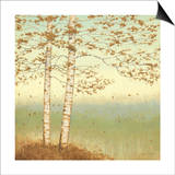 Golden Birch I with Blue Sky Posters by James Wiens