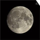 Waxing Gibbous Moon Print by Eckhard Slawik