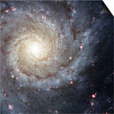 Spiral Galaxy Messier 74 Print by  Stocktrek Images