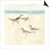 Sand Pipers Square I Posters par Avery Tillmon